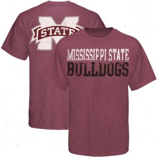 Mississippi State Bulldogs T Shiet : My U Mississippi State Bulldogs Heather Maroon Literality T Shirt