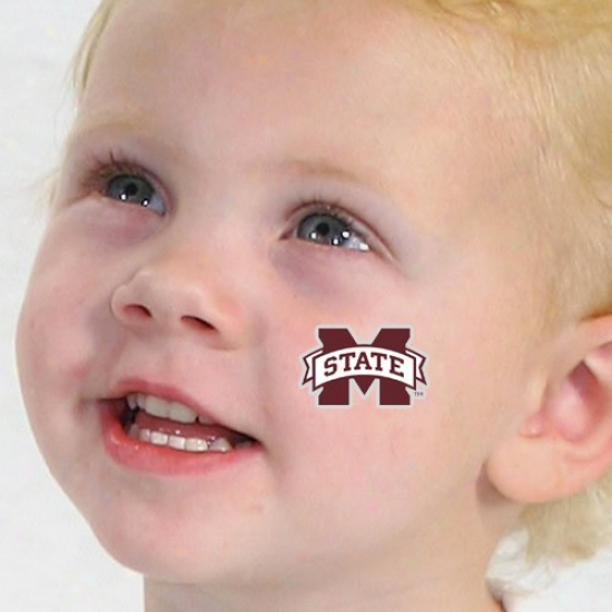 Mississippi State Bulldogs Waterless Temporary Tattoos