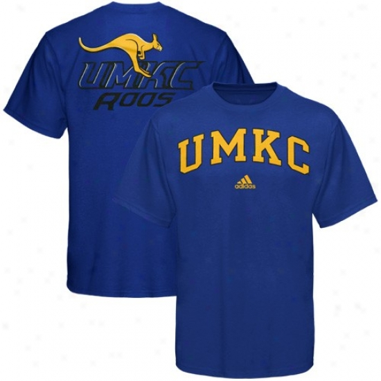Missouri Kansas City Kangaroos Tshirt : Adidas Missouri Kansas City Kangaroos Royal Blue Relentless Tshirt