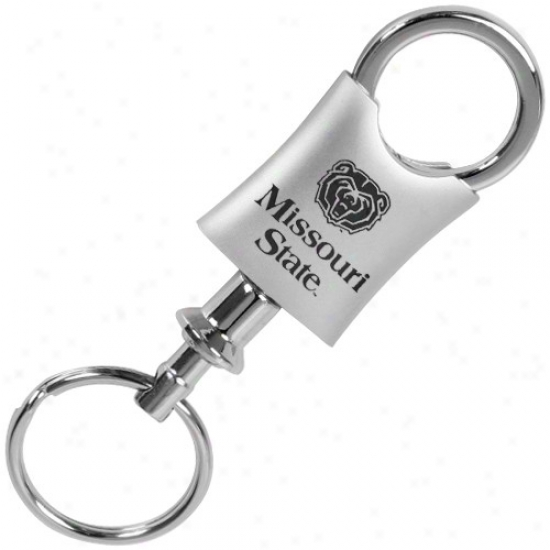 Missouri State University Bears Brushed Metal Valet Keychain