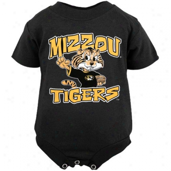 Missouri Tigers Babe Black Character Creeper
