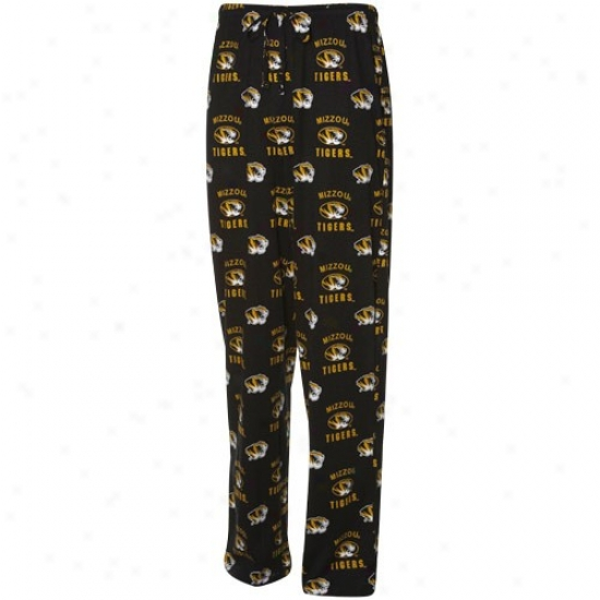 Missouri Tigers Royal Black Maverick Pajama Pants