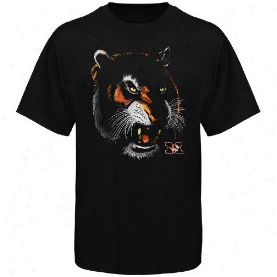 Missouti Tigers T-shirt : Missouri Tigers Youth Black Logo Blackout T-shirt