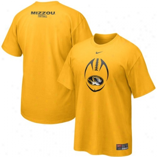 Missouri Tigers T-shirt : Nike Missouri Tigers Gold 2010 Team Issue T-shirt
