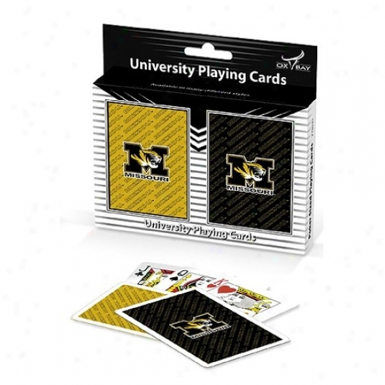 Missouri Tigers Team Alcohol Two-pack Playing Cards