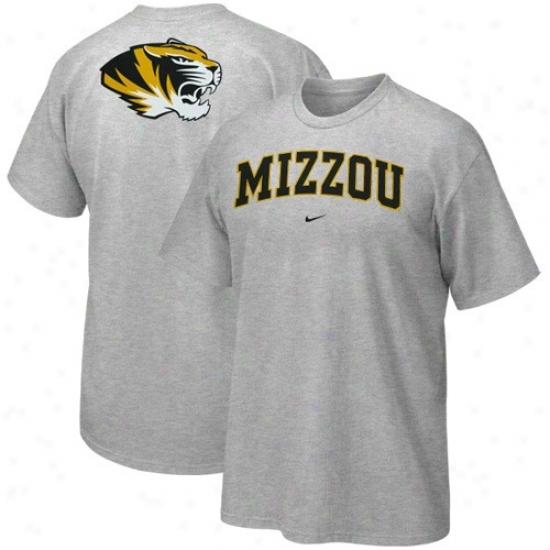 Missouri Tigers Tee : Nike Missouri Tigers Ash Arch Logo Tee