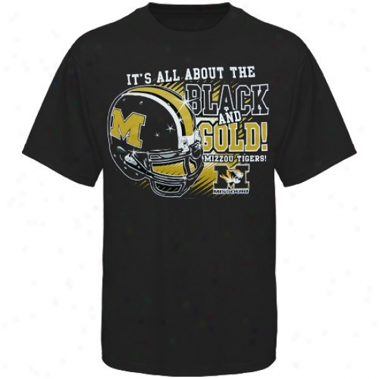 Mizzou Tigers Tees : Mizzou Tigers Black All About Black & Gold Tees