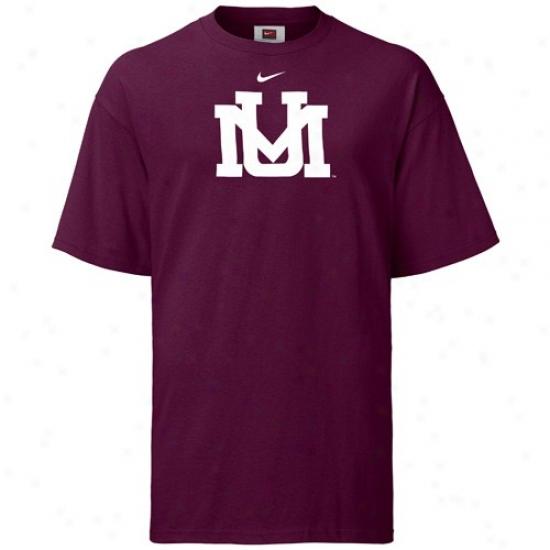 Montana Grizzlies Teea : Nike Montana Grizzliex Maroon Greek  Logo Tees