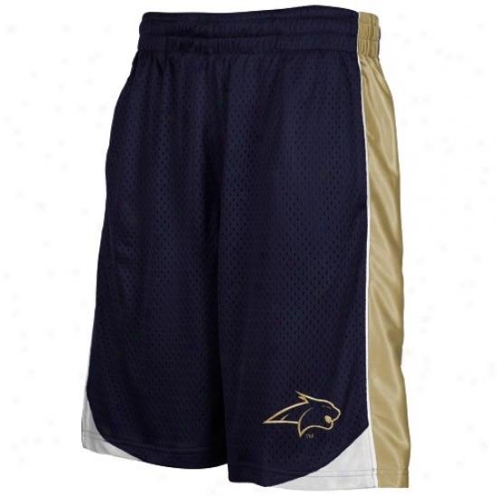 Montana Stwte Bobcats Nav6 Blue Vector Workout Shorts