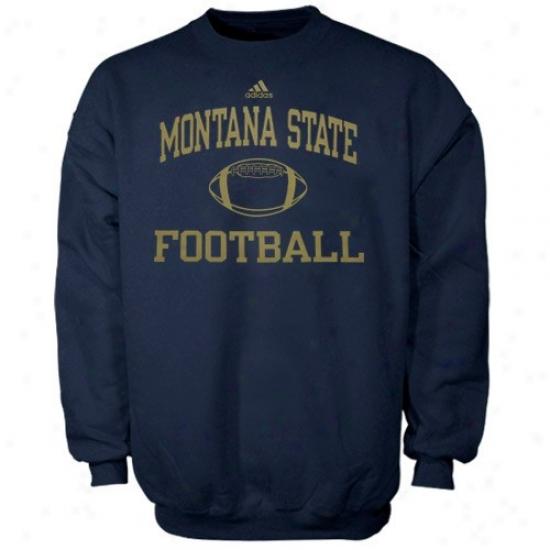 Montana State Bobcats Stuff: Adidas Montana State Bobcats Navy Blue Colleiate Crew Sweatshurt