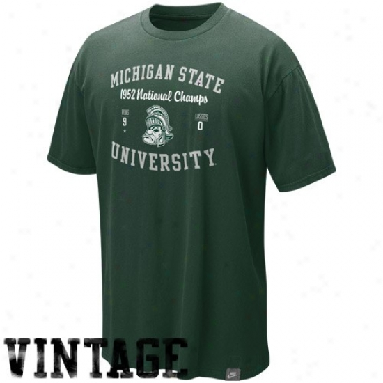 Msu Spartan  T Shirt : Nike Msu Spartan  New Vault In-the-books Washed Organic T Shirt