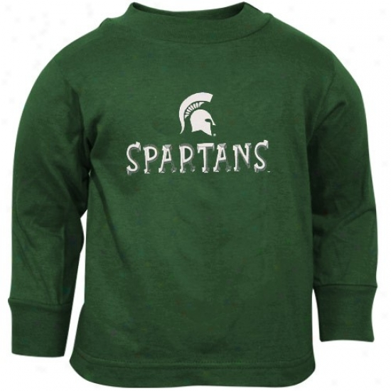 Msu Spartans T Shirt : Msu Spartans Green Toddler Team Logo Long Sleeve T Shirt