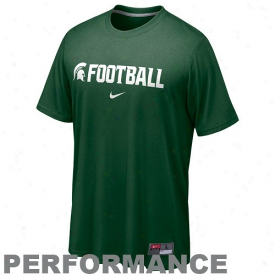 Msu Spartans Tee : Nike Msu Spartans Green Conference Legend Performance Tee