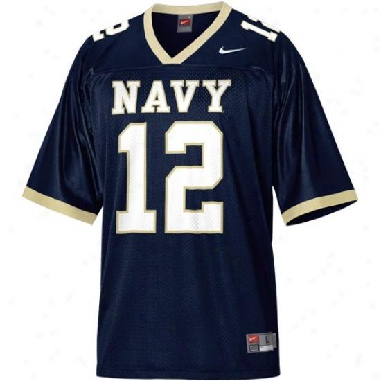 Navy Midshipmen Jersey : Nike Navy Midshipmen #12 Navy Blue Replica Football Jerse