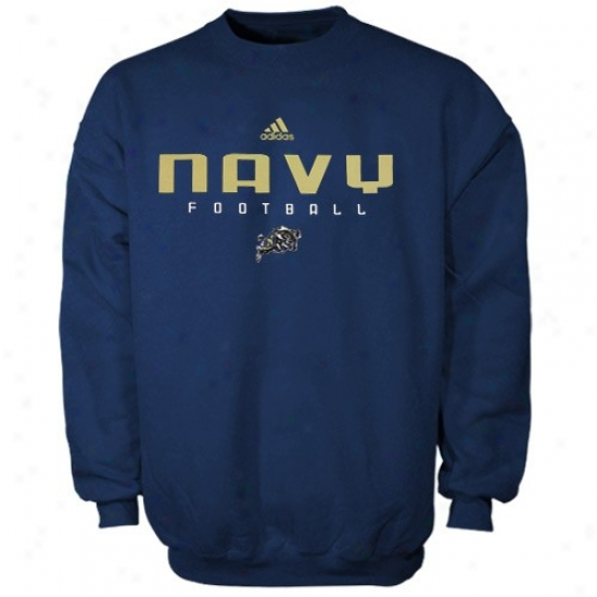 Navvy Midshipmen Stuff: Adidas Navy Midshipmen Royal Blue Sideline Crew Sweatshirt