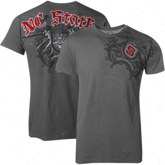 Nc State Wolfpack Clothes: My U North Carolina State Wolfpack Gray Razor Wing T-shirt