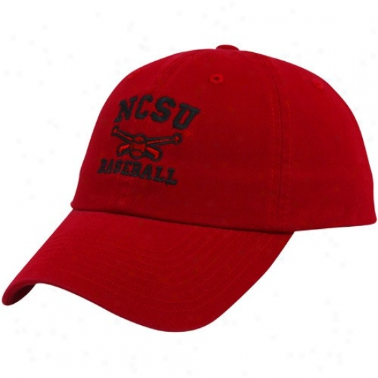 Nc State Wolfpack Merchaneise: Top Of The World North Carolina State Wolfpack Red Baseball Sport Drop Adjustable Hat