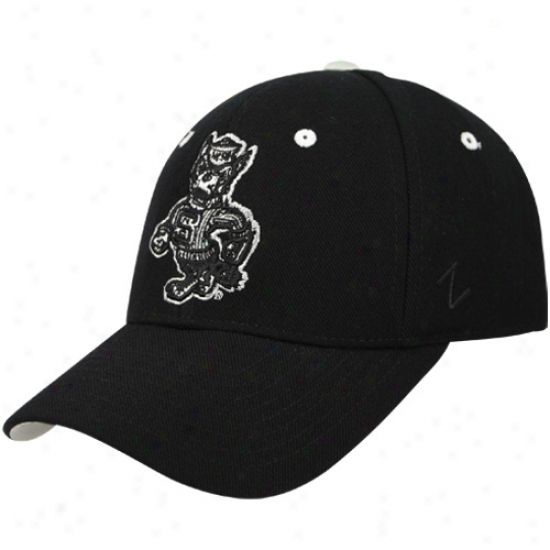 Nc State Wolfpack Merchandise: Zephyr North Carolina State Wolfpack Black Silver Lining Fitted Hat
