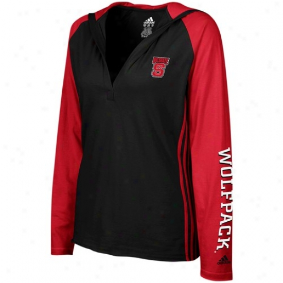 Nc State Wolfpack T Shirt : Adidas North Carolina State Wolfpack Ladies Black Long Sleeve Hoody T Shirt