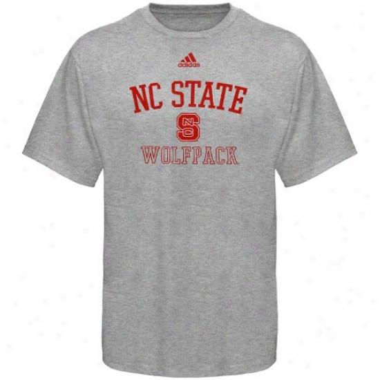 Nc State Wolfpack Tshirts : Adidas North Carolina State Wolfapck Ash Practice Tshirts