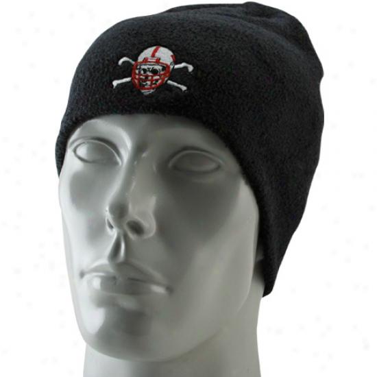 Nebraska Cornhusker Gear: Adidas Nwbraska Cornhusker Black Blackshirts Cuffless Knit Beanie