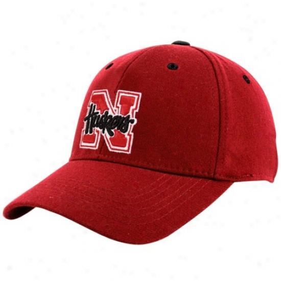 Nebraska Cornhusker Hwts : Top Of The World Nebraska Cornhusker Youth Scarlet Basic Logo 1fit Hats