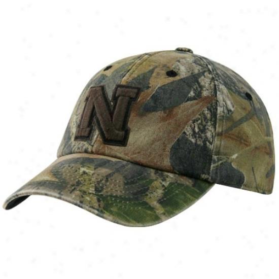 Nebraska Cornhusker Hats : Top Of The World Nebraska Cornhusker Camo Mossy Ii Flex Fit Hats