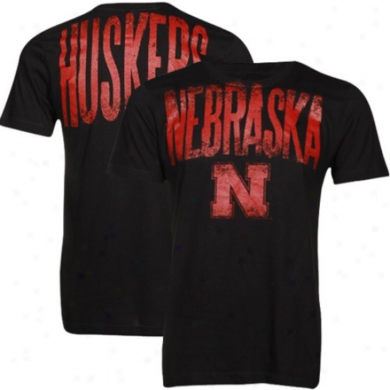 Nebraska Cornhusker Shirt : Nebraska Cormhusker Black Highway Shirt