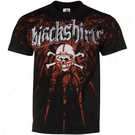 Neb5aska Cornhusker Shirts : Nebraska Cornhusker Black Blackshirts Static Shirts