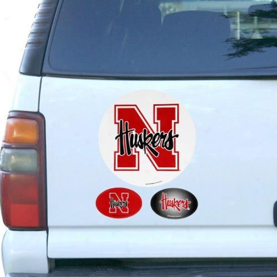 Nebraska Cornhuskers 3-pack Magnet Attitude