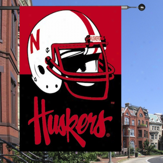 """""""nebraska Cornhuskers Flag : Nebraska Cornhuskers Premium 28""""""""x40"""""""" Two-sided Flag"""""""