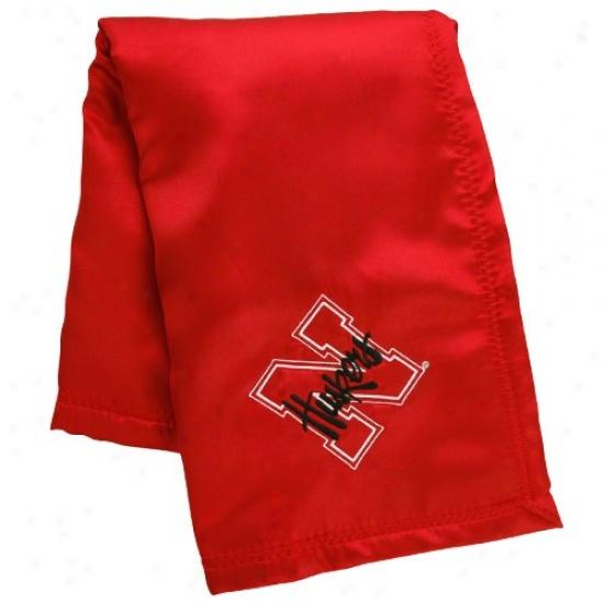 Nebraska Cornhuskers Infant Scarlet Silky Baby Blanket