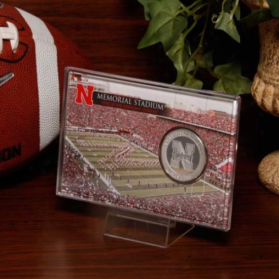 Nebraska Cornhuskers Memorial Stadium Silver Coin Card