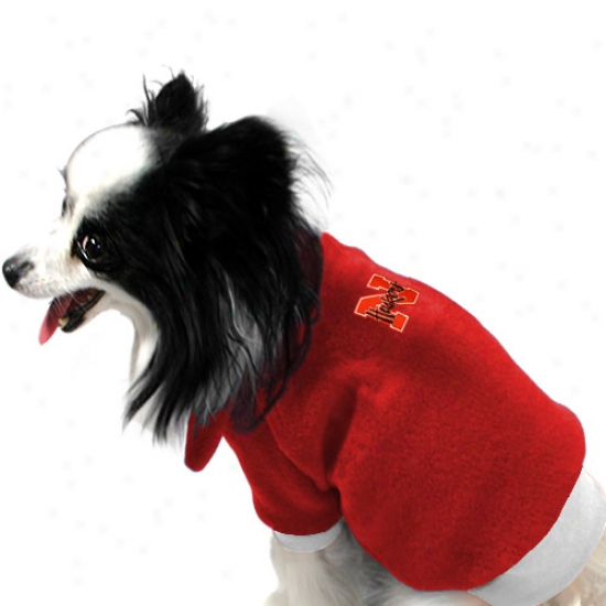 Nebraska Cornhuskers Red Dog Cover fleecily Pullover