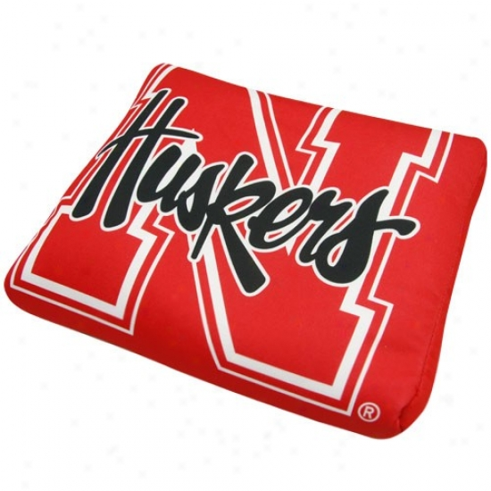 Nebraska Cornhuskers Scarlet Microbead Travel Pillow