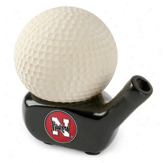 Nebraska Cornhuskers Stress Golf Ball W/pen Holder