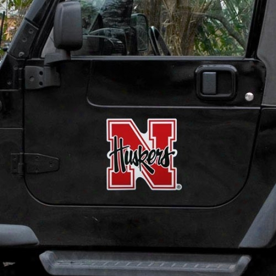 Nebraska Cornhusker Team Logo Car Loadstone