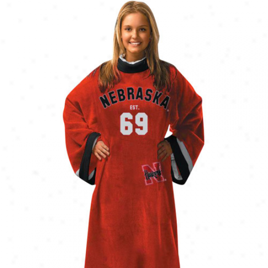 Nebraska Cornhuskers Unisex Scarlet Uniform Snuggie Blanket