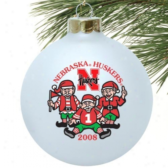Nebraska Cornhuskers White 2008 Collectors Series Ornament