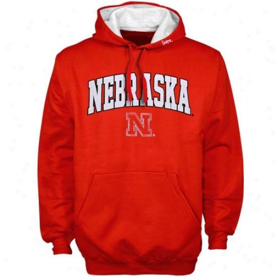 Nebraska Hoodie : Nebraska Scarlet Classic Twill Pullover Hoodie