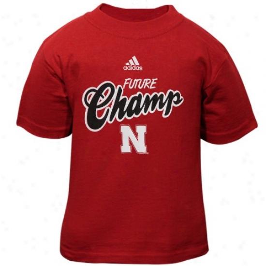 Nebraska Tshrts : Adidas Nebraska Infant Scarlet Future Champ Tshirts