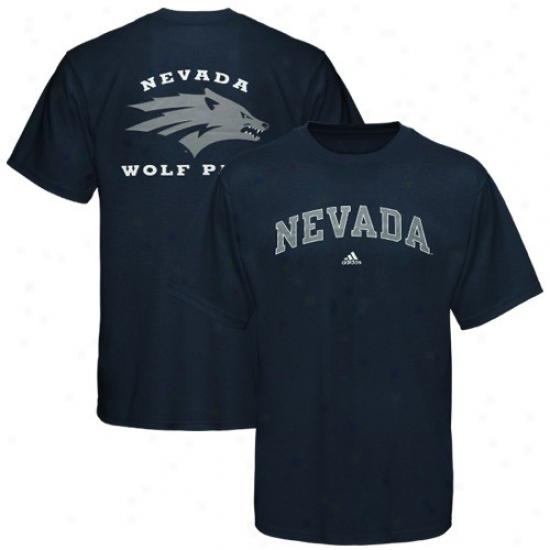 Nevada Wolf Pack Apparel: Adidas Nevada Wolf Pack Navy Blue Relentless T-shirt