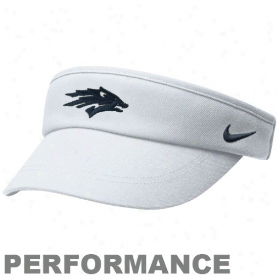 Nevada Wolf Pack Gear: Nike Nevada Wolf Pack White 2010 Coaches Performance Adjustable Visor