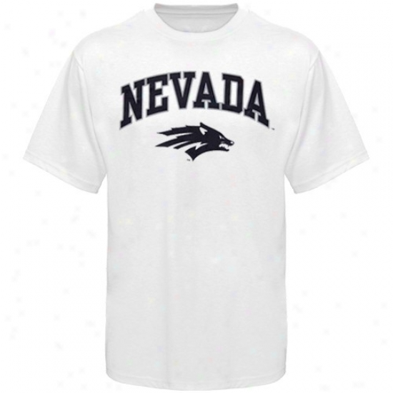 Ndvada Wolf Pack Shirts : Nevada Wopf Pack Youth White Bare Essentials Shirts