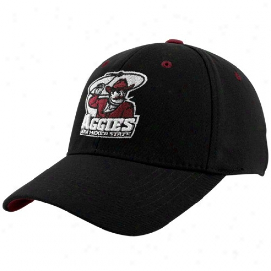 New Mexico State Aggies Caps : Top Of The World New Mexico State Aggies Black Basic Logo 1-fit Caps