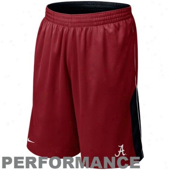 Niek Alabama Crimson Tide Crimsln-black Reversible Performance Basketball Shorts