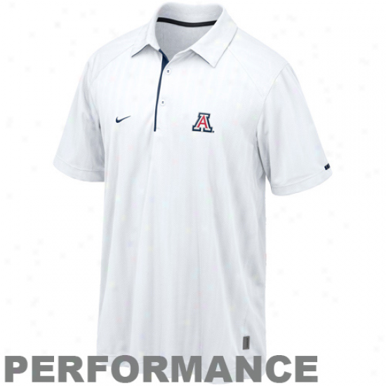 Nike Arizona Wildcats White 2010 Conference Performance Polo