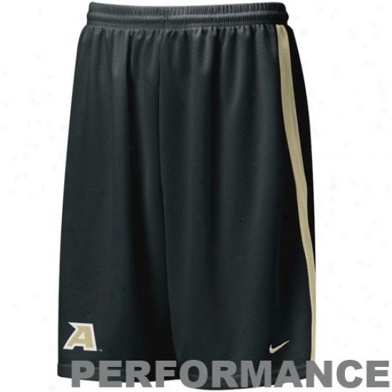 Nike Army Black Knights  Black Performance Replica Lacrosse Mesh Shorts