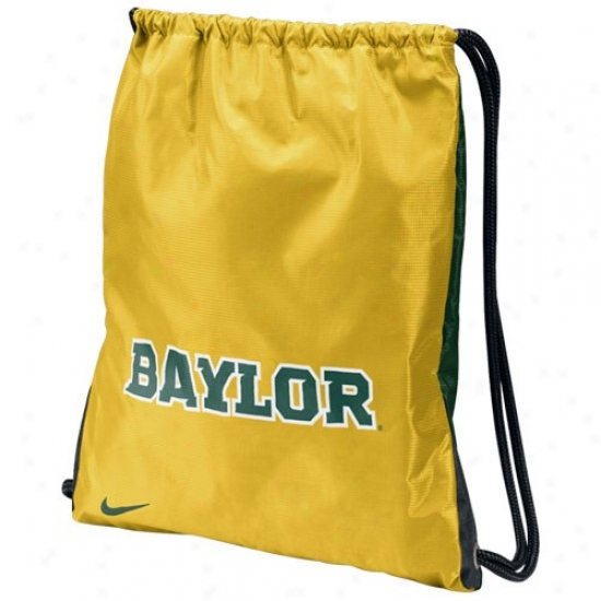 Nike Baylor Bears Gold-green Home & Away Gym Bag