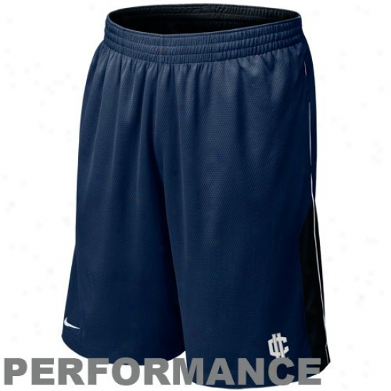 Nike Connecticut Huskies (uconn) Navy Blue-black Reversible Performance Basketball Shorts